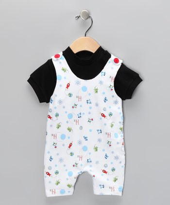 White Space Tee & Shortalls - Infant
