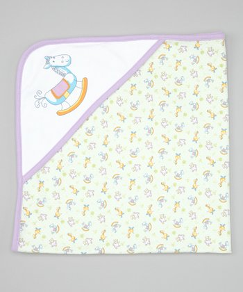 Violet Nursery Time Blanket