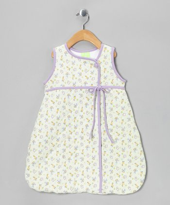 Violet Nursery Time Wrap-Top Bunting Bag