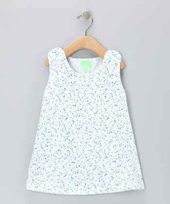 White Baby Bluebells Shift Dress