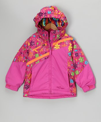 Pink Flower Peyton Jacket - Toddler & Girls