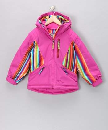 Pink Shimmer Aubrey Jacket - Toddler & Girls