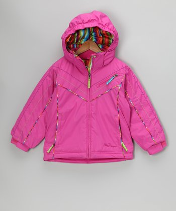 Pink Shimmer Lillian Jacket - Toddler & Girls