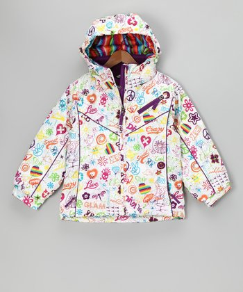 White Diva Lillian Jacket - Toddler & Girls