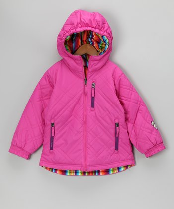 Pink Shimmer Reversible Sophia Jacket - Toddler & Girls