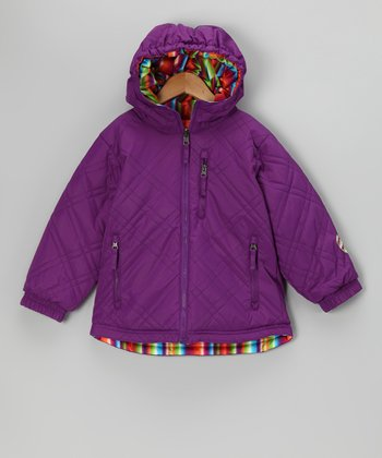 Purple Glow Reversible Sophia Jacket - Toddler & Girls