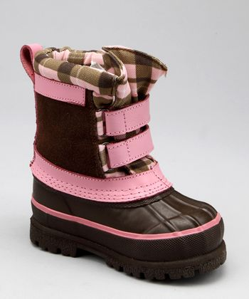 Snowy Creek Pink Plaid Pac Snow Boot