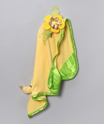 Yellow Princess Aladreena Hooded Blanket