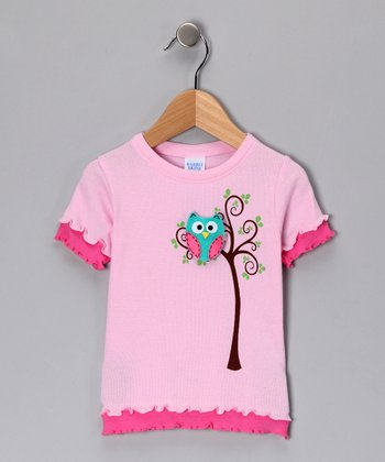 Sweet Pea & Turquoise Owl Tee - Toddler & Girls