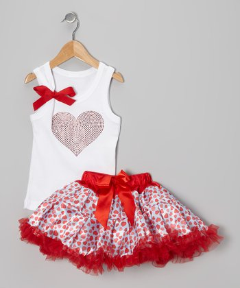 Red Heart Tank & Pettiskirt - Infant, Toddler & Girls