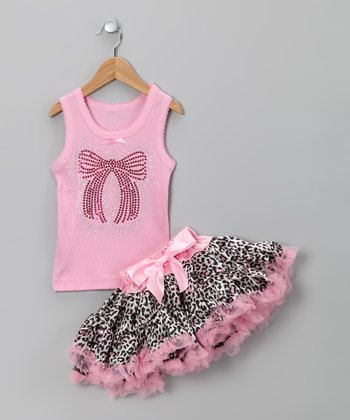 Pink Bow Tank & Pettiskirt - Infant, Toddler & Girls
