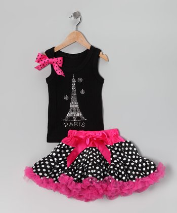 Black Eiffel Tank & Pettiskirt - Infant, Toddler & Girls