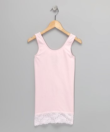 Light Pink Lace-Trim Tank
