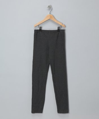 Charcoal French Terry Leggings