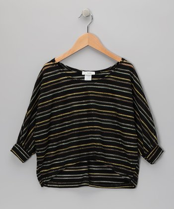 Black Stripe Dolman Sweater