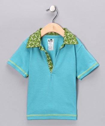 Blue & Green Polo - Infant, Toddler & Boys