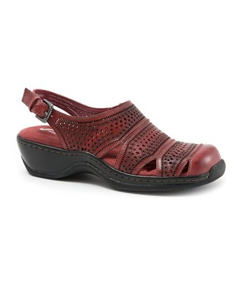 SoftWalk Red Avalon Sandal