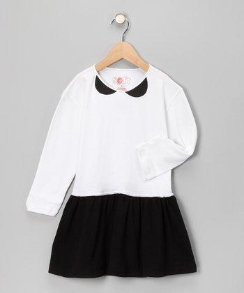 Black & White Organic Party Dress - Toddler & Girls