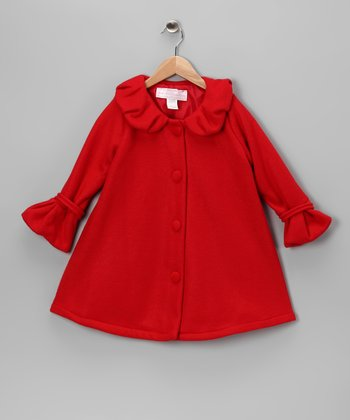 Red Polar Fleece Swing Coat - Infant & Girls