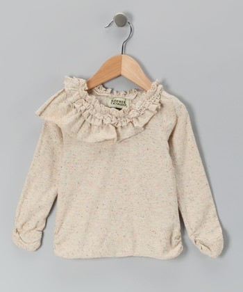 Oatmeal Ruffle Tunic - Toddler & Girls