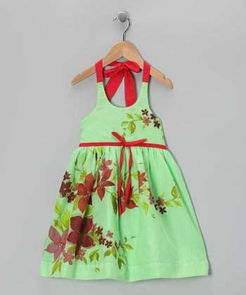 Pistachio Floral Dress - Infant, Toddler & Girls