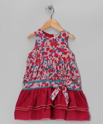 Mauve Floral Meera Dress - Infant, Toddler & Girls