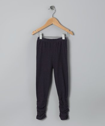 Midnight Ruched Leggings - Girls