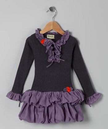 Lavender Ruffle Inna Dress - Toddler & Girls