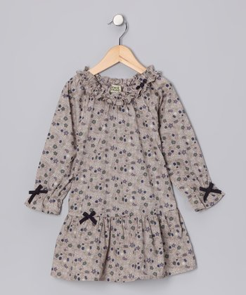 Beige Morgan Dress - Infant, Toddler & Girls