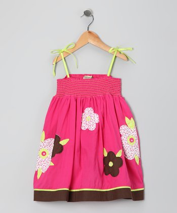Bubblegum Smocked Daisy Dress - Infant, Toddler & Girls