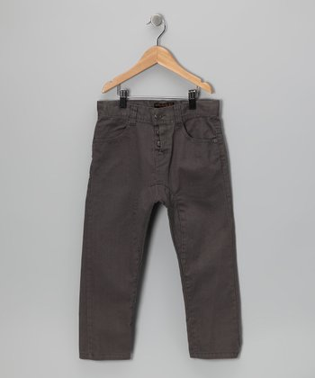 Charcoal Panel Pants - Toddler