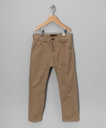 Tan Panel Pants - Toddler & Boys