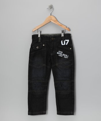 Dark Denim Straight-Leg Jeans - Toddler & Boys