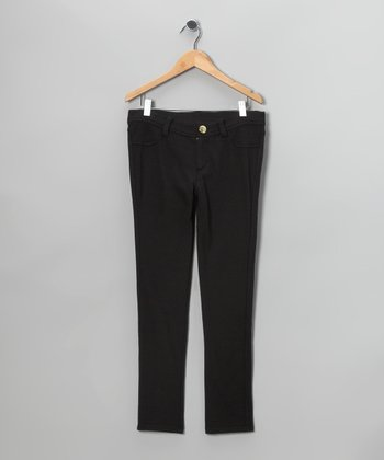 Black French Terry Jeans