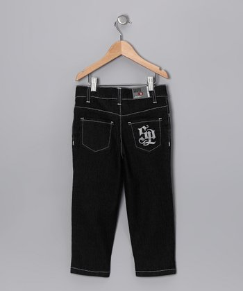 Black Sand Contrast Stitch Jeans - Infant & Toddler
