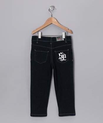 Dark Sand Contrast Stitch Jeans - Infant & Toddler