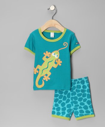 Marine Blue Gecko Tee & Shorts - Infant & Toddler