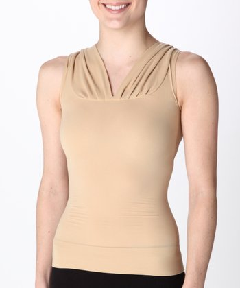 On Top and In Control® Classic V-Neck Top - Soft Gold