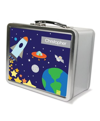 Rocket Launch Personalized Lunch Box