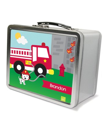 Fighting Fire Personalized Lunch Box
