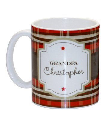 'Grandpa' Preppy Style Personalized Mug