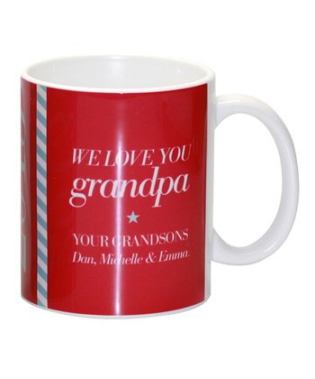 'Grandpa' Fun Letter Personalized Mug