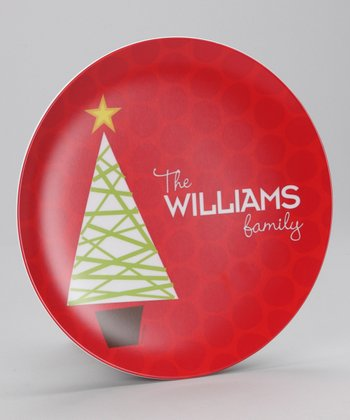 Modern Tree Personalized Plate