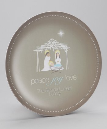 Wishful Nativity Personalized Plate