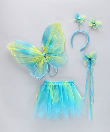 Blue Glitter Wings Set - Toddler
