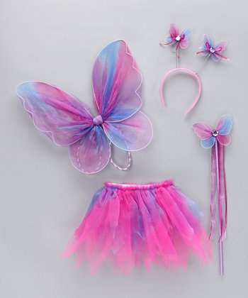 Pink Glitter Wings Set - Toddler