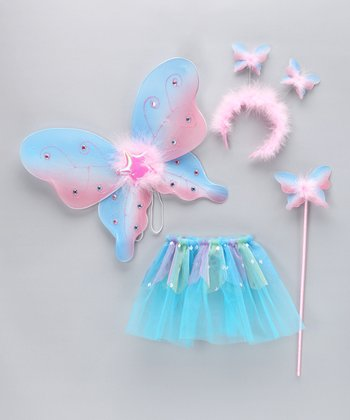 Pink & Blue Glitter Wings Set - Toddler