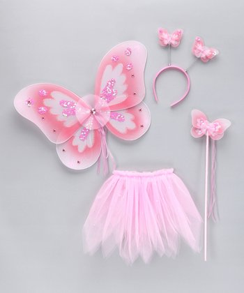 Light Pink Glitter Wings Set - Toddler