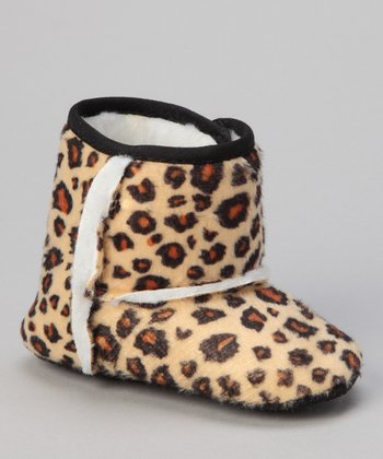 Tan Leopard Boot