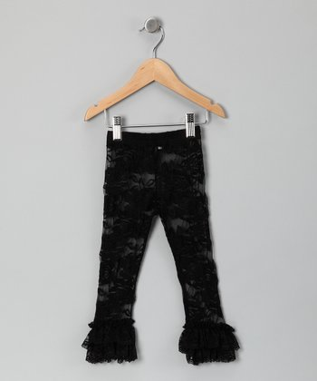 Black Lace Ruffle Leggings - Infant, Toddler & Girls